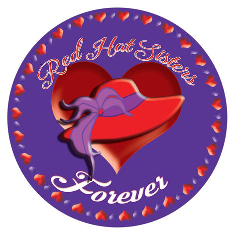 Red Hat Sisters Forever Button Pin