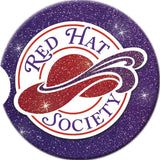 Red Hat Society Logo Car Coaster Auto Conde