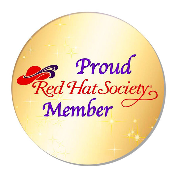 Red hat Society Proud Member Iron On Patch