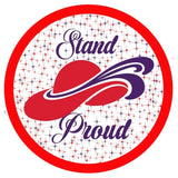 Red Hat Society Stand Proud Iron On Patch Accessories/Small Conde