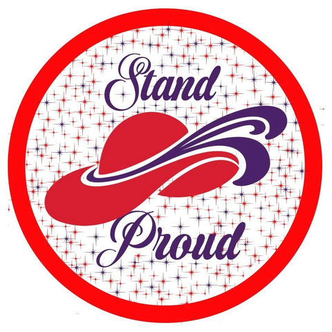 Red Hat Society Stand Proud Iron On Patch