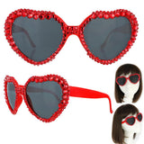 *Rhinestone Heart Sunglasses Accessories/Small Something Special LA