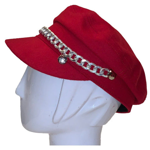 *Rita Red Bikers Hat