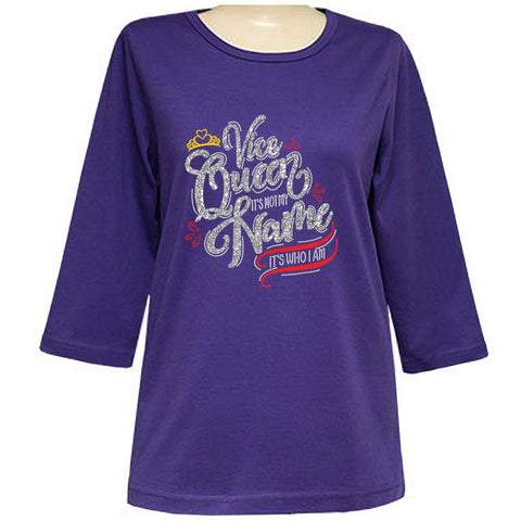 Royal Vice-Queen 3/4 Sleeve Scoop Classic Shirt
