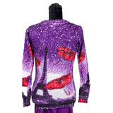 * Scarlet French Purple Top Apparel Universal Fashion Outlet