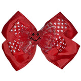 *Smiling Love Heart Bow Hair Clips Accessories/Small One Stop Beauty
