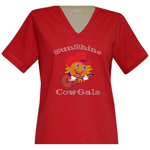 SunShine CowGals Short Sleeve V-Neck Classic
