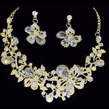 *Tamara Rhinestone Necklace Set Jewelry REZO Culture Trading, INC. Clear/Gold