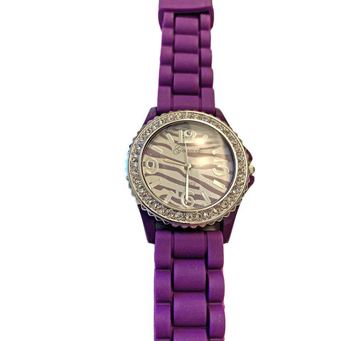 Tiger Strip Silicone Watch