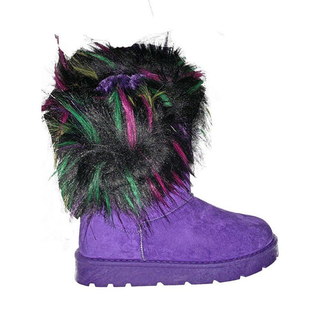 Una Faux Fox Fur Boots