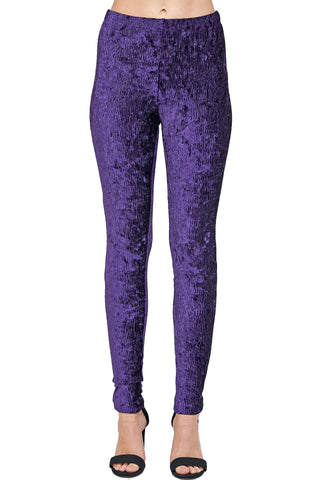 *Valerie Velvet Slim Fit Pants