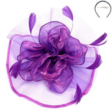 *Victoria Fascinator Fascinator Something Special LA Purple