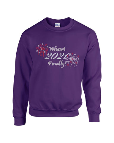Whew 2021 Finally Sweatshirt