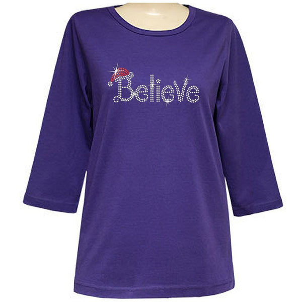 Xmas Believe 3/4 Scoop Classic Shirt - LIVE