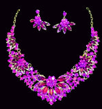 *Yolinda Rhinestone Necklace Set Jewelry REZO Culture Trading, INC. Purple