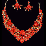 *Yolinda Rhinestone Necklace Set Jewelry REZO Culture Trading, INC. Red