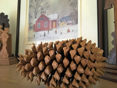 diy interior design with pine cones