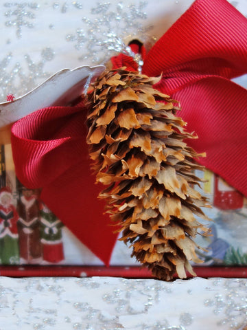 Christmas Gift   Dressed up with Pine Cones