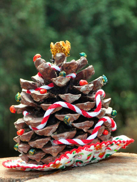 Christmas Tree Decoration with Pine Cone
