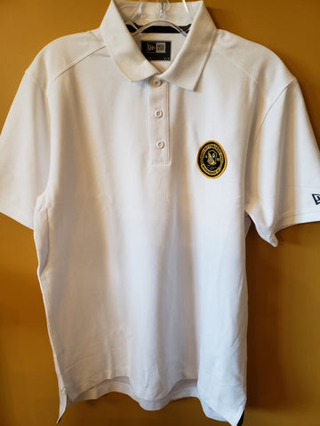 Polo- White polo with the full color Badge
