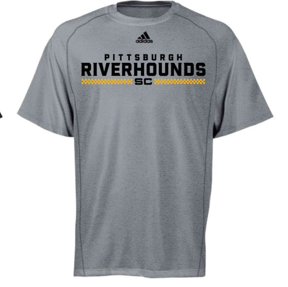 6dd7c18442b2 Adidas Pro Team Training Tee- Black or Gray – Pittsburgh Riverhounds SC Team  Store