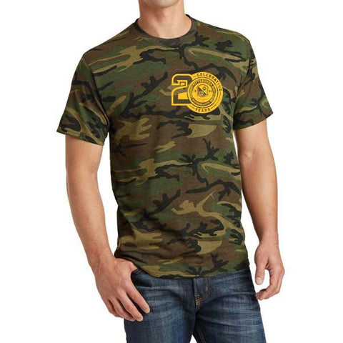 Camo t-shirt 20th Anniversary Logo