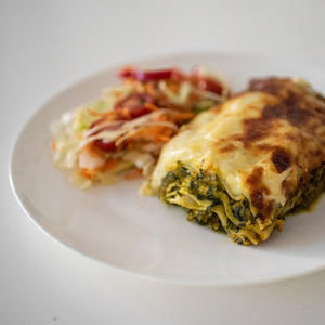 Roast Pumpkin, Spinach and Fetta Lasagne