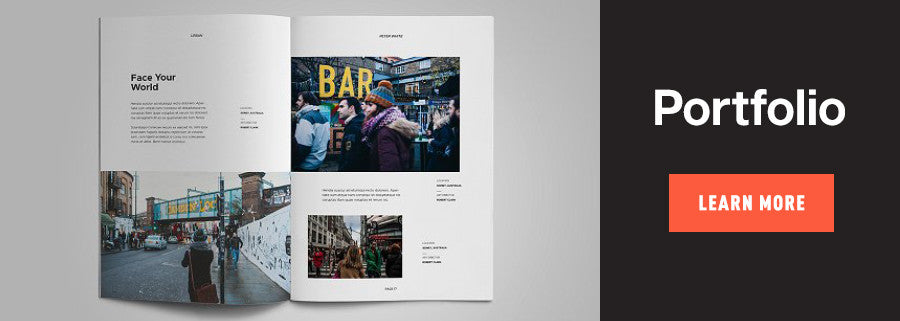 portfolio book design template