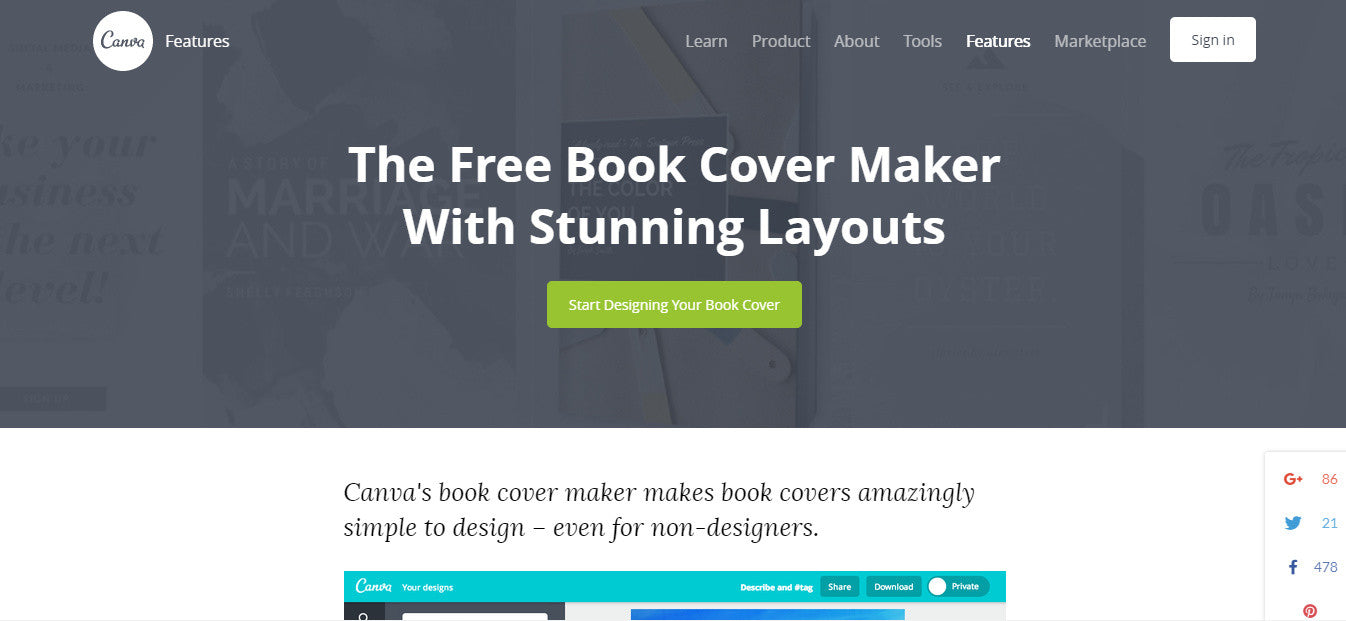 Canva book cover maker