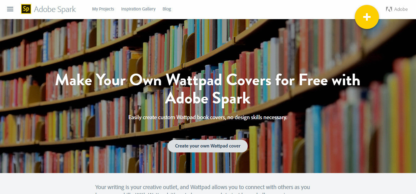 Adobe Spark book cover maker