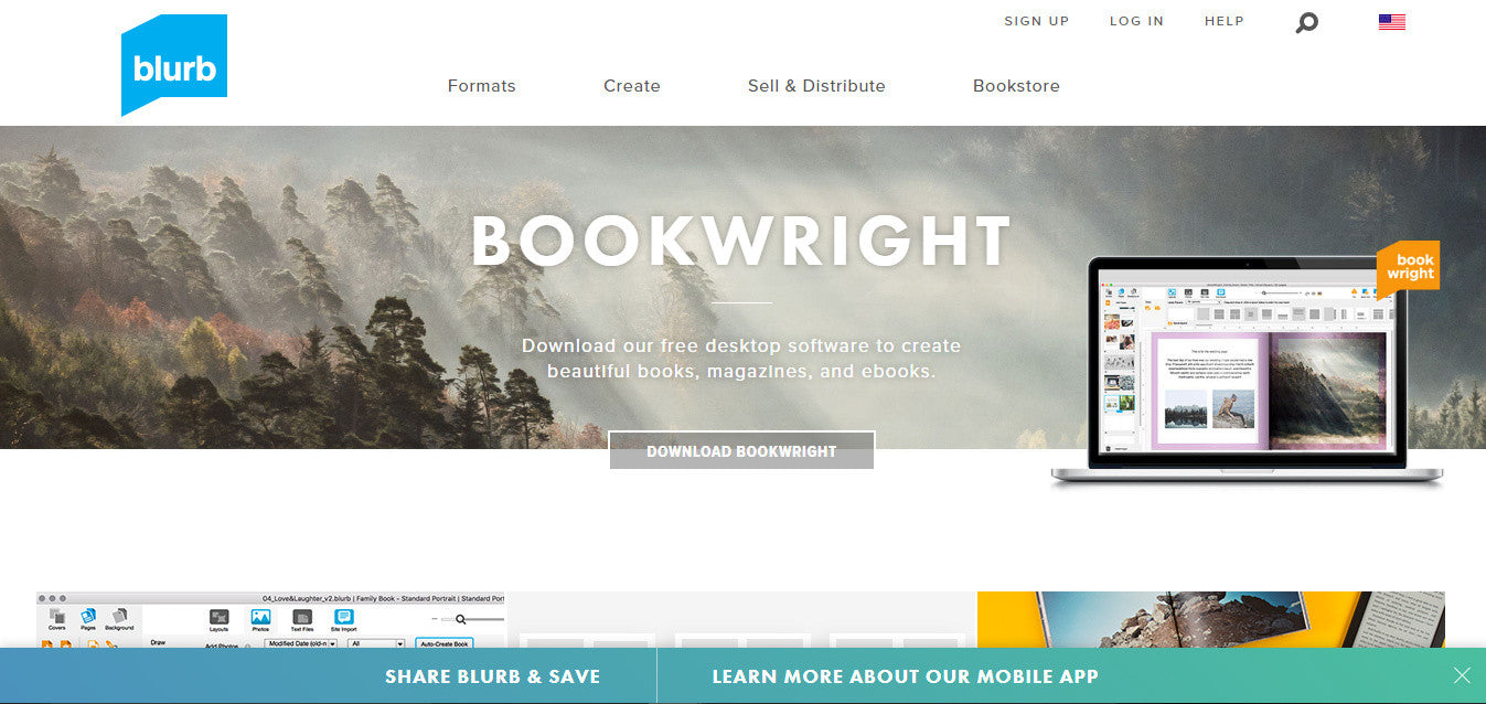 Blurb bookwright book cover maker