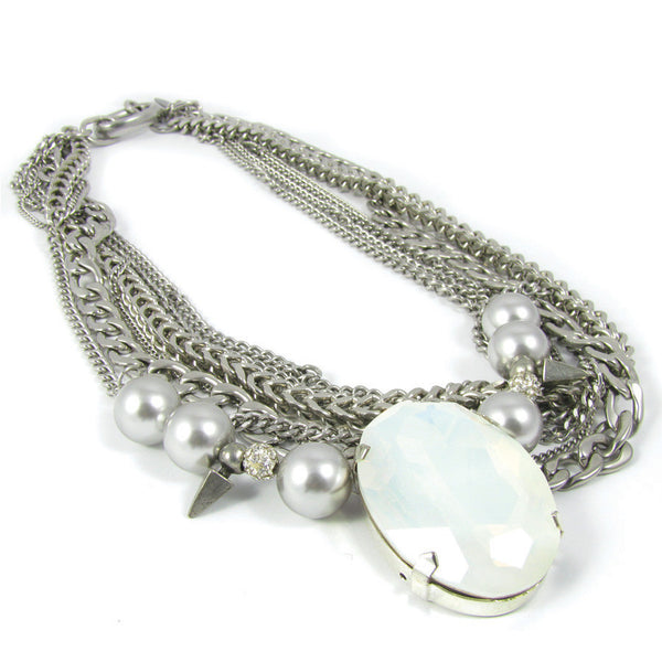 Collier LR Glamour White Cristal