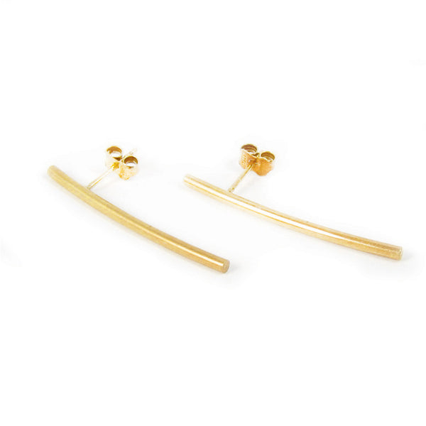 Earring Baton Long Gold