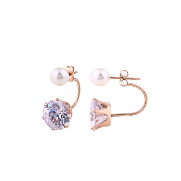 Audrey Swing Pearl Crystal x Rose Gold