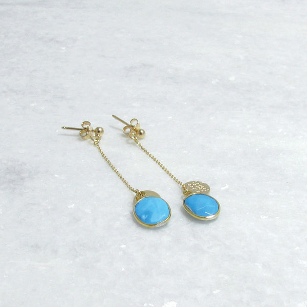 Earring Turquoise x Gold