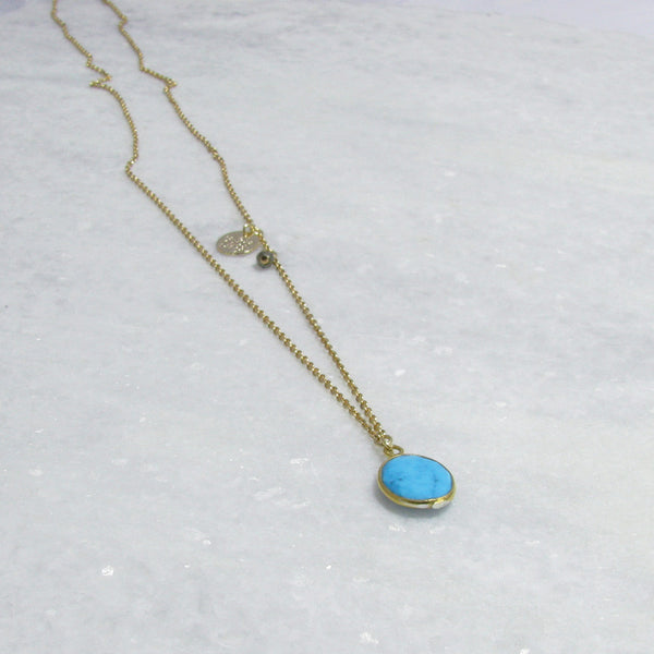 Necklace Turquoise x Gold