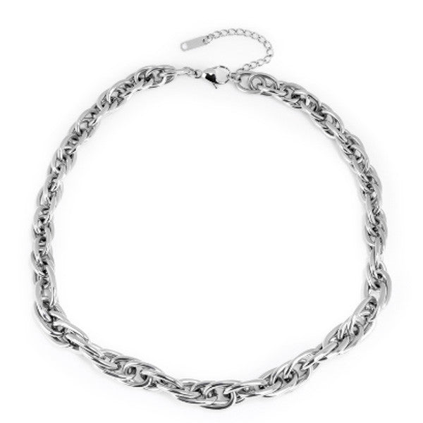 Necklace Twist Chain x Stainless Steel