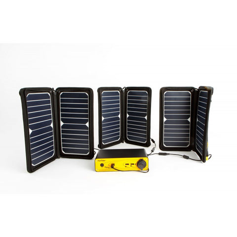 3 DUO-Flex2 Solar Chargers + SPC-39 Panel Combiner Solar Panels, Energy Bar 100v, and i1-150 inverter