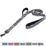 Pet Training Padded 2 Handle Reflective dog Leash camouflage color