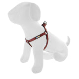 BASIC PAWTITAS DOG HARNESS MARSALA BROWN