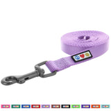 Pawtitas Pet Solid purple orchid 6 feet Puppy /  Dog Leash