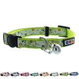 Green Glow In The Dark Cat Collar with Safety Buckle and Bell
