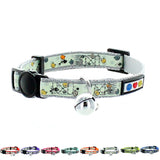 Glow In The Dark Cat Collar with Safety Buckle and Bell