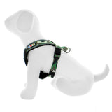 Pet Training Soft Adjustable Reflective Padded Puppy / Dog Harness green camouflage side view