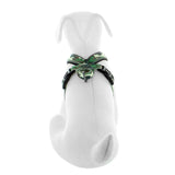 Pet Training Soft Adjustable Reflective Padded Puppy / Dog Harness green camouflage back view