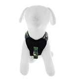 Pet Training Soft Adjustable Reflective Padded Puppy / Dog Harness green camouflage front view