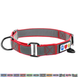 Reflective Martingale Training Dog Collar designed by Pawtitas red