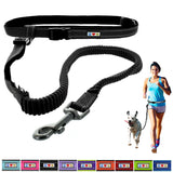 Reflective Padded Anti-shock Outdoor Training Running Dog Leash black