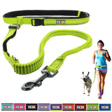 Reflective Padded Anti-shock Outdoor Training Running Dog Leash green