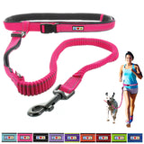 Reflective Padded Anti-shock Outdoor Training Running Dog Leash pink